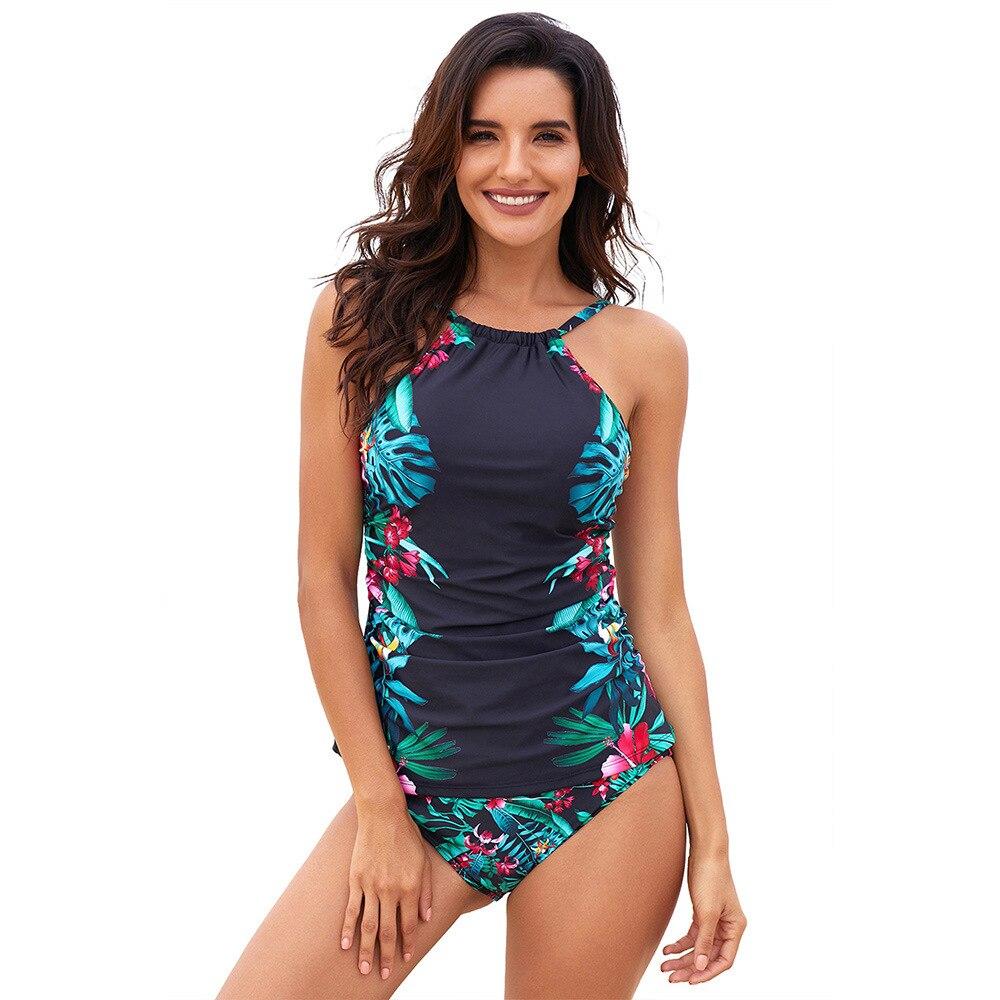 Женский купальный костюм, летний комплект из двух предметов, купальник, пляжный танкини, комплект бикини, сексуальный женский купальник на ...