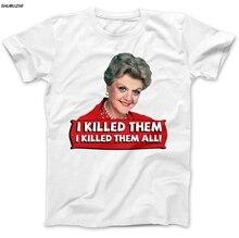 Jessica Fletcher Angela Lansbury T-Shirt 100% Premium Cotton Angela Lansbury Men T-Shirt euro size  100 % Cotton