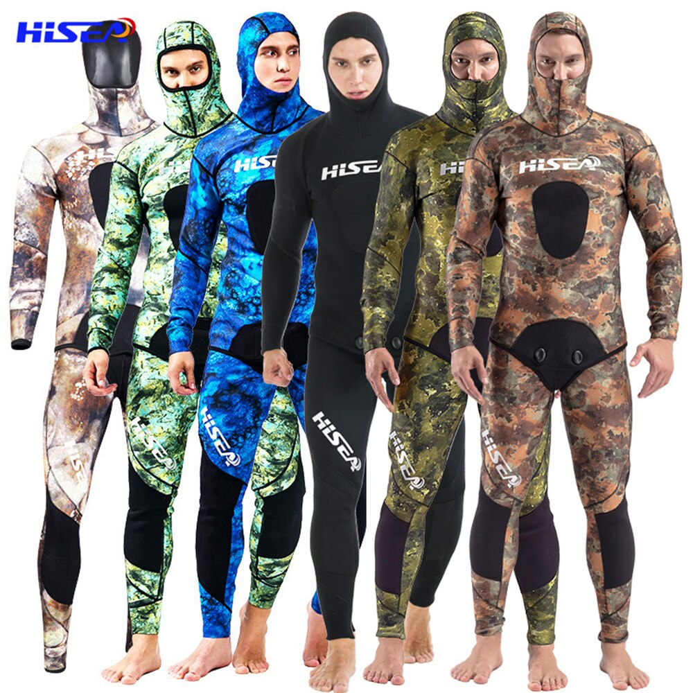 3.5MM Neoprene Scuba Diving Suit Men Underwater hunting Surfing Front Zipper Spearfishing Suit Swimming Kayaking Equipment