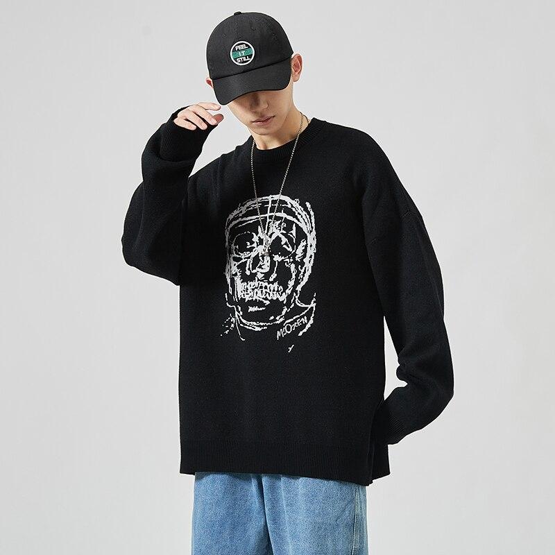 2020 Новые свитера для мужчин; Одежда с длинным рукавом футболки с принтами на весну и осень пуловер вязаный свитер с круглой горловиной и сво...