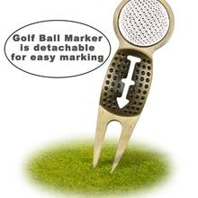 CRESTGOLF Hot Selling Golf Divot Tool with Golf Ball Marker Golfer Kit Golf Repair Tools Pitch Fork