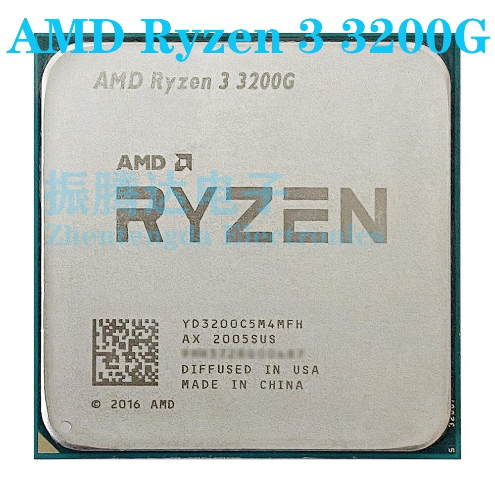 AMD Ryzen 3 3200G CPU 3.6GHz 4 Core 4 Thread Socket AM4 R3-3200G CPU Processor