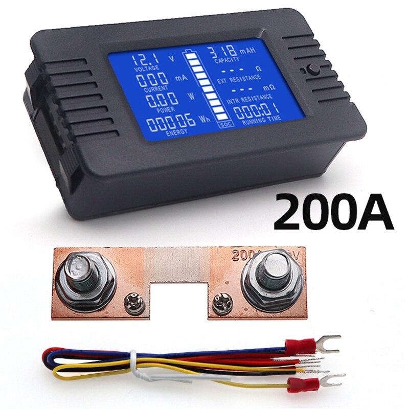 PZEM015 200v автомобильный вольтметр цифровой Батарея внутреннее сопротивление метр Мощность энергии сопротивление Ёмкость 200A марганца Медь шунт