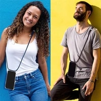 fashion crossbody strap lanyard soft tpu case for huawei honor 10 lite 20 pro p10 8x 8s 8a y9 2018 shockproof clear phone case
