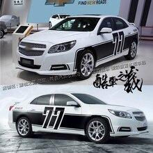 Autocollant de voiture pour Chevrolet Malibu édition commémorative carrosserie décoration extérieure personnalisé autocollant modifié