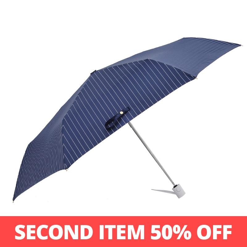 Tiohoh japonês guarda-chuva chuva mulheres listra estilo automático guarda-chuva meninas à prova de vento claro senhoras guarda chuva 6 costelas
