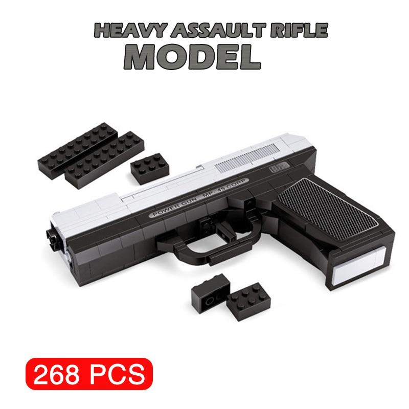 MP-45 de Pistola de Águila del desierto, submáquina Uzi militar ww2, bloques de construcción, armas militares, Pistola bonita, juguete para niños