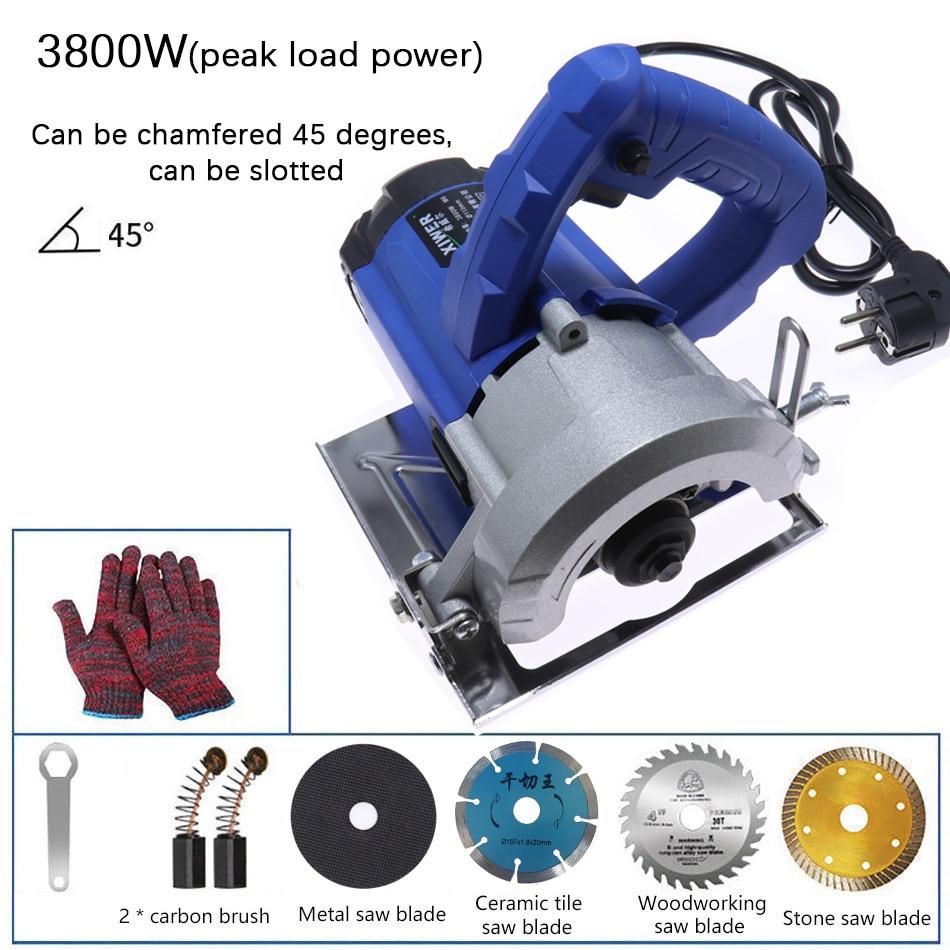 220V Multifunctional Electric Circular Saw Tools Wood Metal Marble Tile Brick Household High Power Cutting Machine