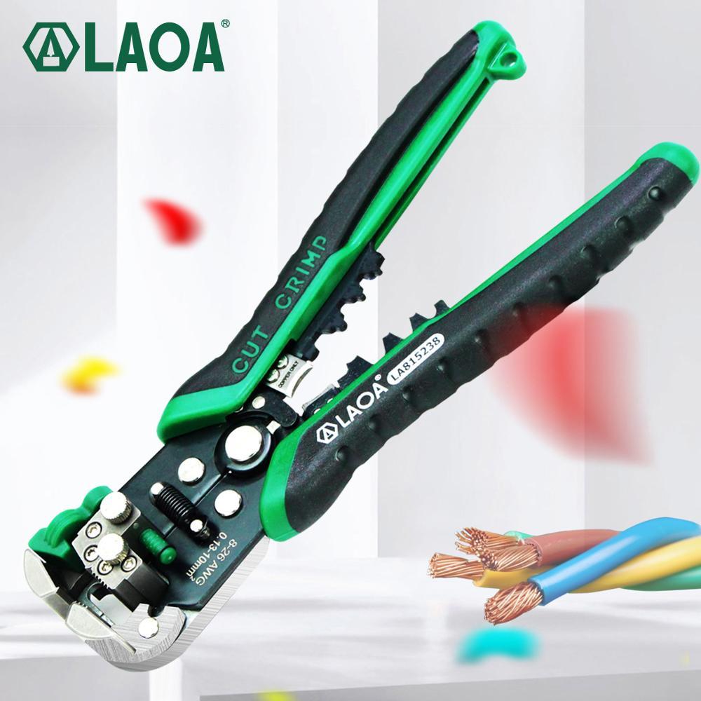 LAOA التلقائي سلك متجرد أدوات قطع الأسلاك كماشة كابل كهربائي تجريد أدوات للكهرباء Crimpping المحرز في تايوان