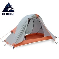 male wolf outdoor single ultra light camping tent anti rainstorm and sandstorm camping equipment double aluminum pole tent