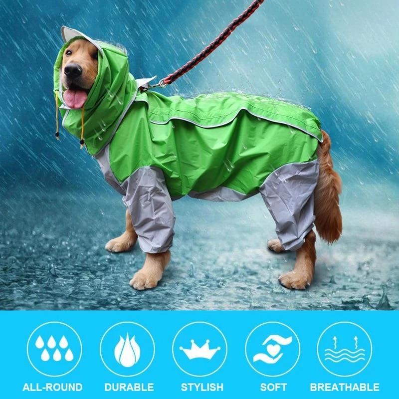 Dog Raincoat Waterproof Dog Suits Dot Rain Cape Pet Clothing For Big Dogs Hooded Jacket Poncho Pet Rain Coat for Summer s 7xl pet apparel dog clothes dog raincoat pet jacket reflective rain pet waterproof coat plaid dog poncho teddy raincoat