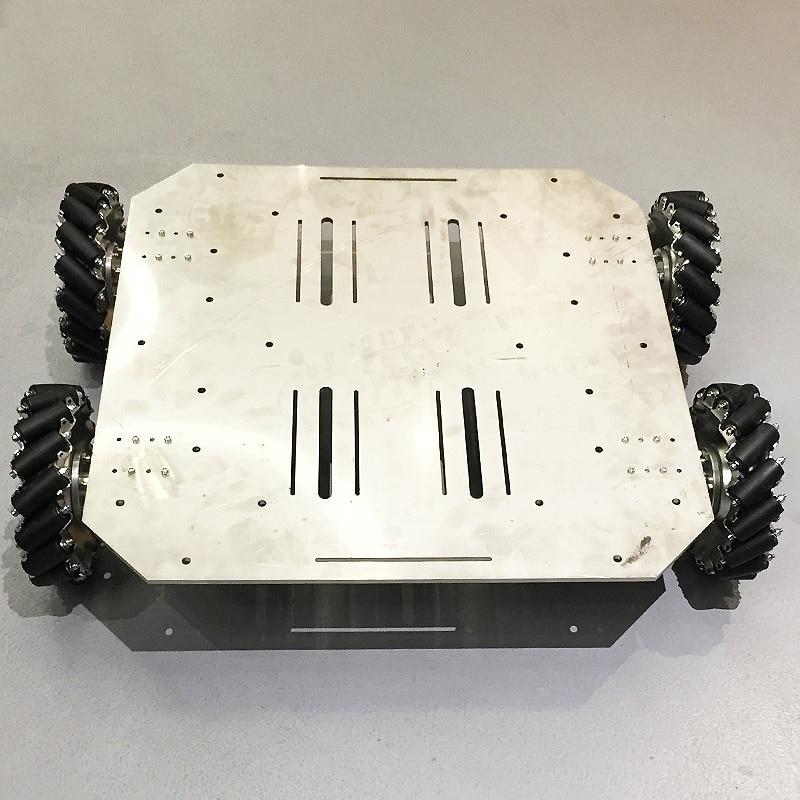 70KG Big Load Mecanum Wheel Robot Car Chassis with 4pcs 24V Encoder Motor PS2 Arduino Controller for ROS Shooting Platform