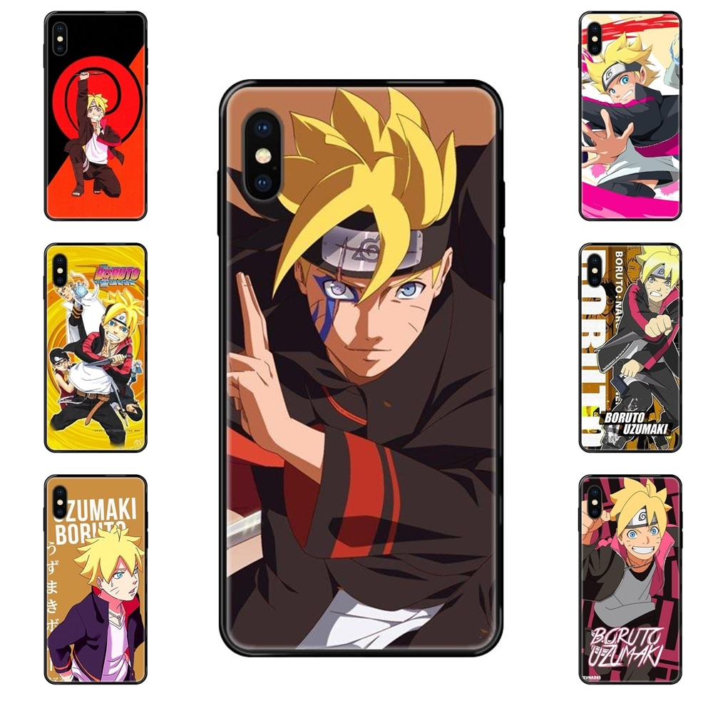 Cheap For Samsung Galaxy A70 A71 A70E A5 A6 A7 A8 A10 A10S A20 A20S A20E A21S A30S A40 A50 Cartoon Uzumaki Boruto Tpu Black