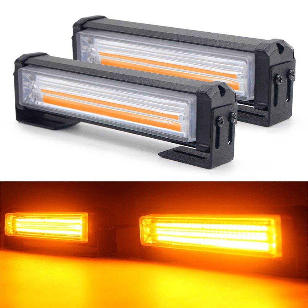 40W 80W LED COB Car front Grille warning Light Head Mini Strobe Emergency Lightbar Surface Mount for Fire truck Police 12~24V
