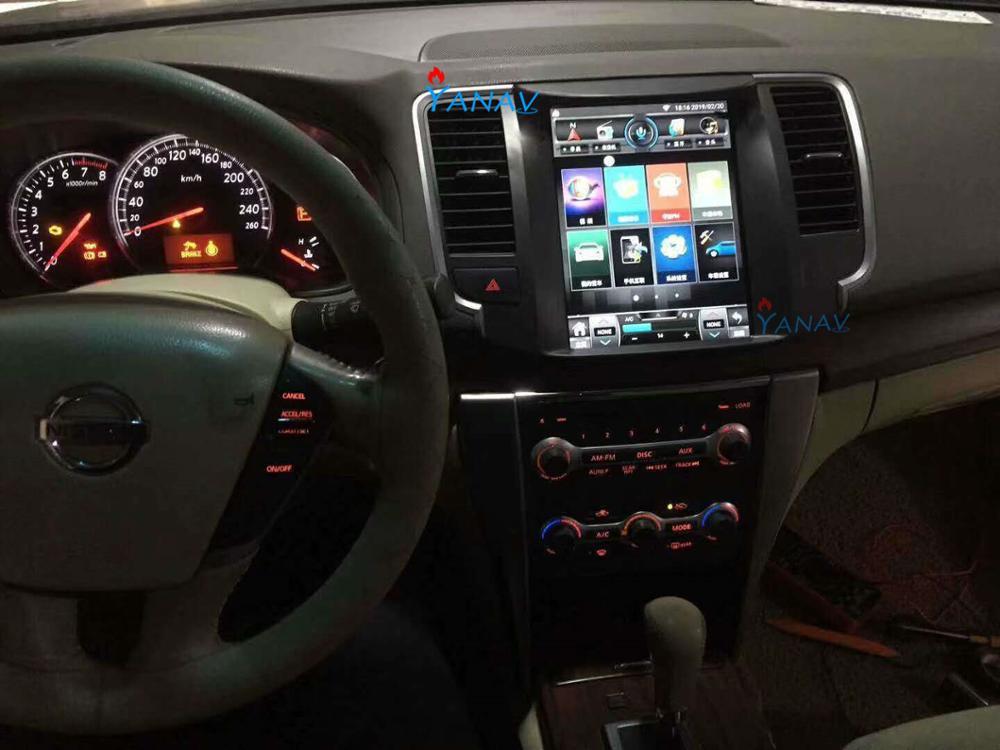 Reproductor multimedia de coche, Radio Estéreo, reproductor de dvd Android para Nissan teana Cedric 2008-2012, pantalla Vertical de navegación de gps para coche