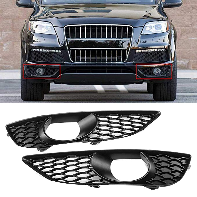 Coche luz antiniebla del parachoques delantero cubierta de rejilla para Audi Q7 4L 4L línea S/N/S 2009-2014 4L0807675C