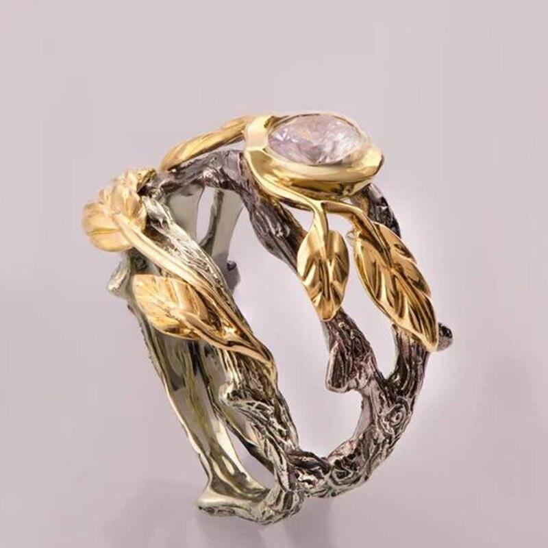 Milangirl retro antigo anéis folhas dedo anel feminino vintage indiano jóias ramo videiras pedra anéis praia s