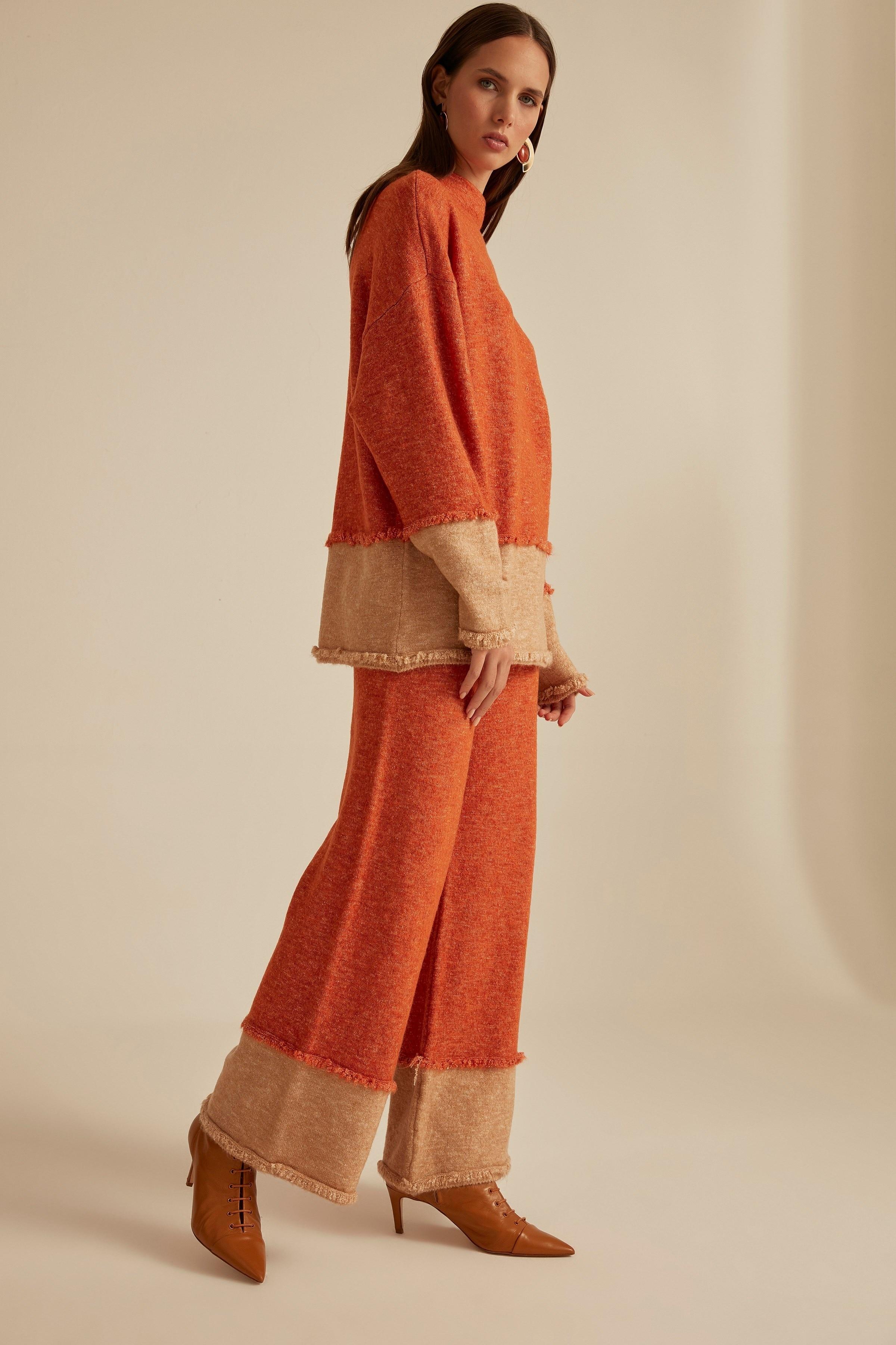 Pantalones de Jersey entallado con detalle de borlas