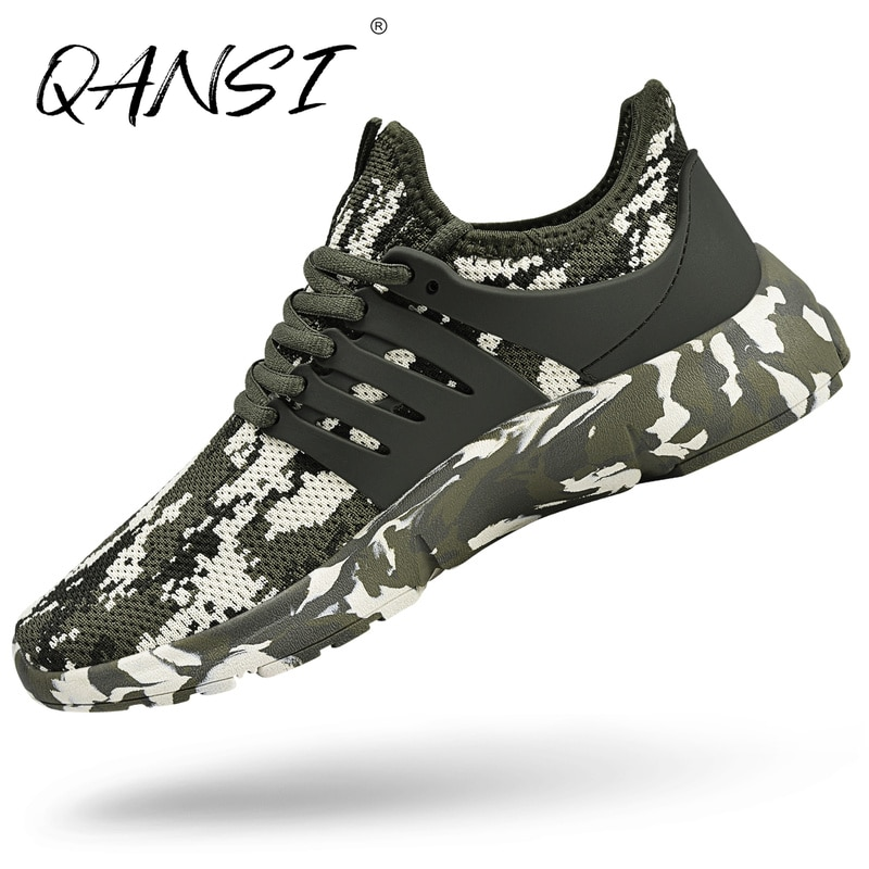 Casual Camouflage Lace-up Men Sneakers Summer Mesh Walking Athletic Shoes for Men New Outdoor Non-slip Light Running Shoes 2021
