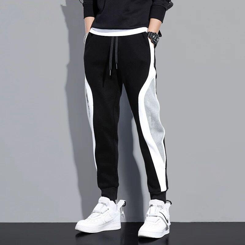 Black Sweatpants Men Jogger Pants Cotton Track Pants Streetwear Casual Trousers 5XL Plus size Gray