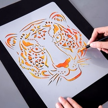 DIY animal Hand Drawing Stencil Tools Kids Toy Photo Novelty Educational Toy Various Styles Art Supp