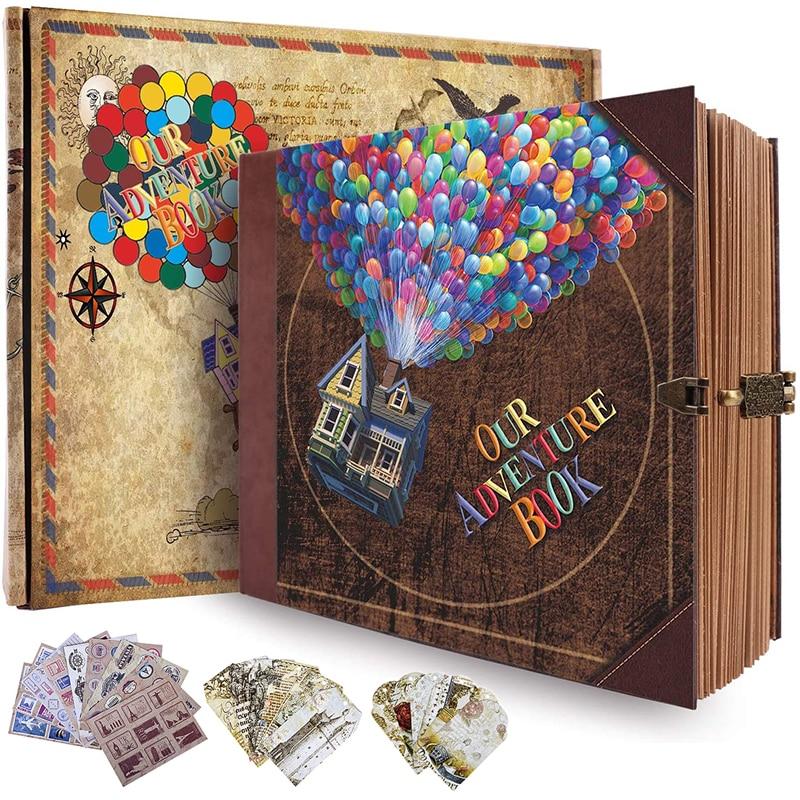 ألبوم صور السفر DIY ، دفتر المغامرات ، السفر ، المكتب ، المنزل ، المدرسة ، الأعمال ، الهدايا ، ألبوم الذاكرة 146 صفحة