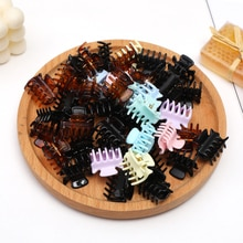 6PCS Mini Candy acrilico tornante piccola Clip di cattura frangia Clip tornante Clip superiore nero piccola Clip piastra tornante accessori per capelli