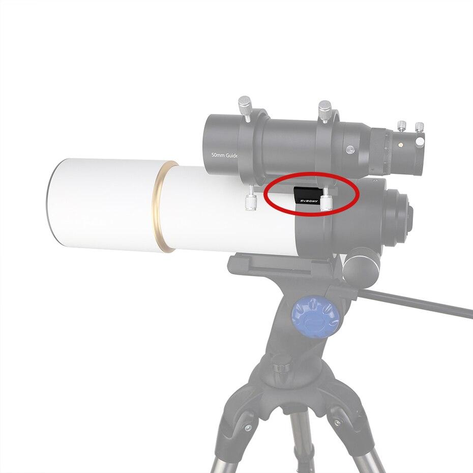 SVBONY completamente Metal soporte Base zapato + 42mm Dovetail UNC 1/4-20 montaje para telescopio óptico Finderscope