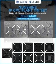 Placa base de posición de ranura de uso de doble cara g-lon 601H Plantilla de reparación BGA plataforma de estaño para iPhone CPU A13 A12 A11 A10 A9