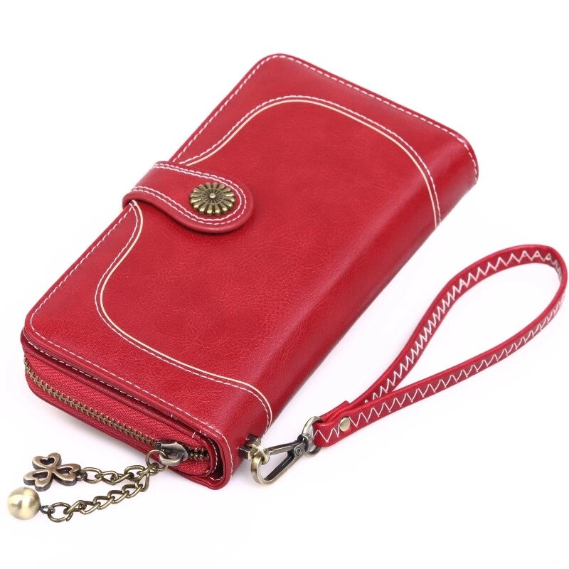 Women Long Wallet PU Men Bag National Style Purse Zipper Credit Card Money Holder Bags Portfel 2020 Club Affordable Luxury Pouch