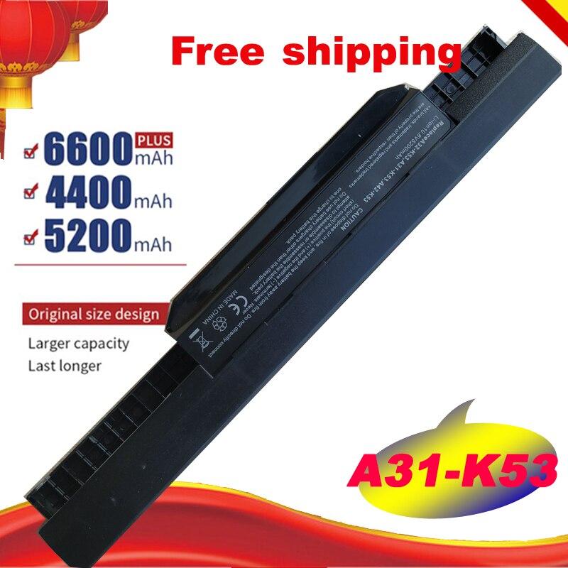 6 celdas batería de portátil para Asus K53 serie K53BY K53J K53JE K53JN K53S K53SD K53SN K53TA K43JS K43SC K43SJ K43SV