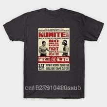 Camiseta gráfico criativo na moda camiseta tshirt men bloodsport poster kumite frank dux vs chong li