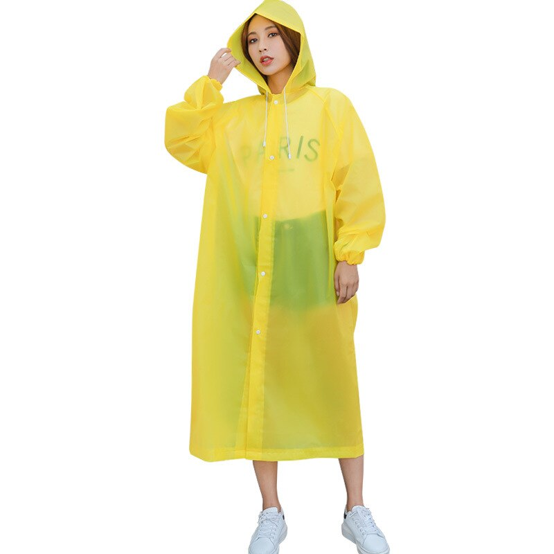 Fashion EVA Women Man Raincoat Thickened Waterproof Rain Poncho Coat Adult Clear Transparent Camping Hoodie Rainwear Suit enlarge