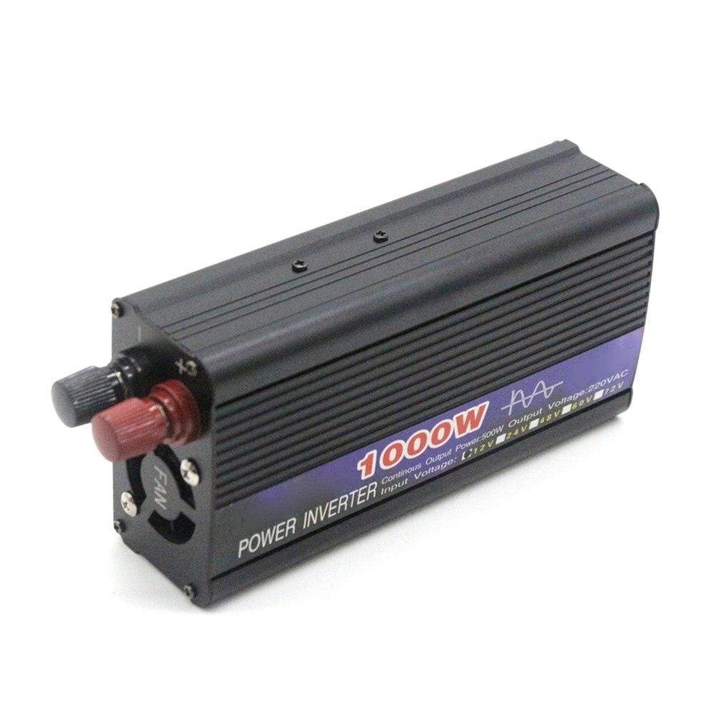 1000 Вт Инвертор немодулированного синусоидального сигнала, Одноцветный цифровой дисплей, автомобильный инвертор, усилитель преобразования