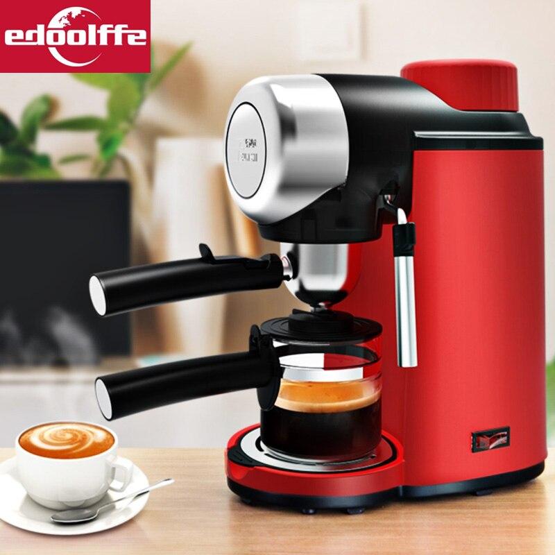 Edoolffe Эспрессо- машина Встроенный молокоотсос 5Bar система насосов Кофеварка 800 Вт кофемашины молокоотсос 220-240 В 50 Гц