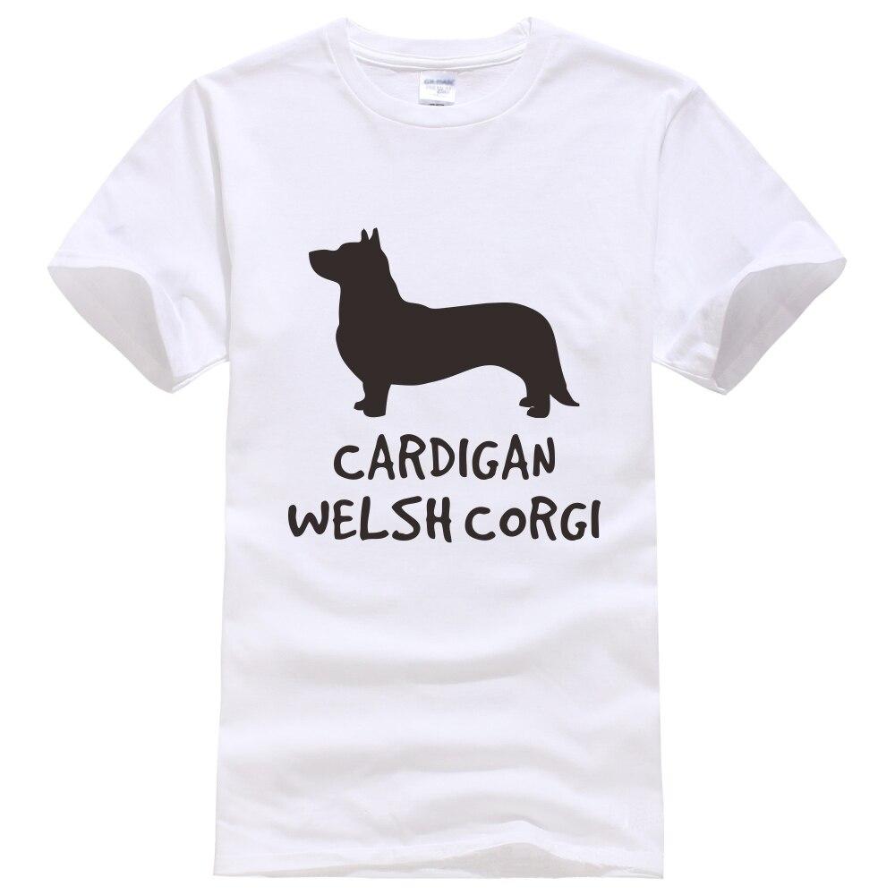 Футболка с изображением собаки породы Вельш-корги, кардиган с изображением собаки, любителя, владельца, унисекс, модная женская и мужская рубашка с коротким рукавом, модный стиль