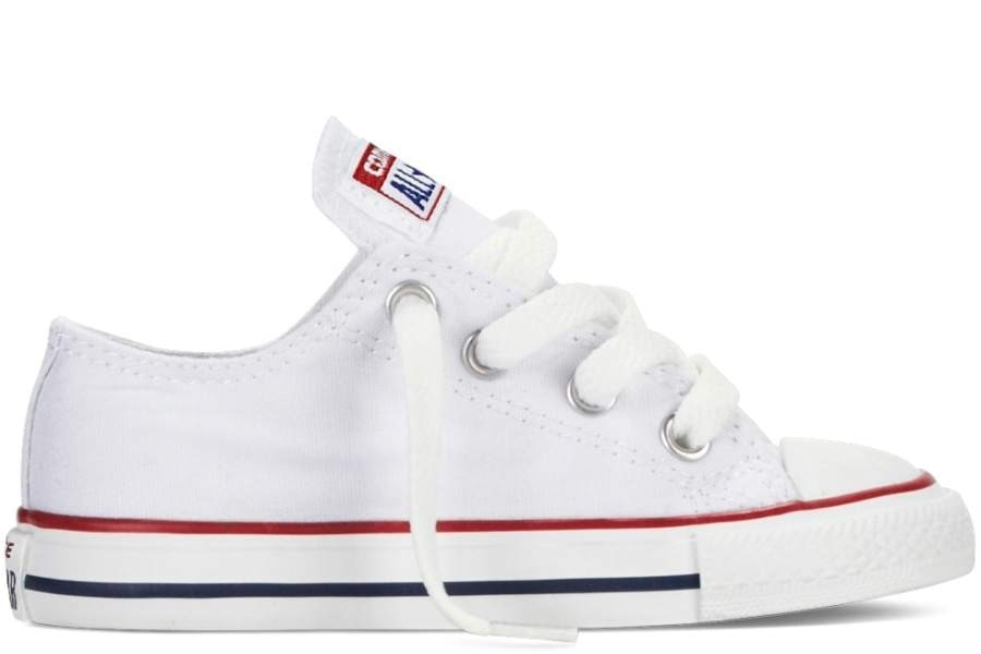 CONVERSE INFANT CHUCK TAYLOR ALL STAR OX CLASSIC COLORS OPTICAL WHITE trainers-WHITE