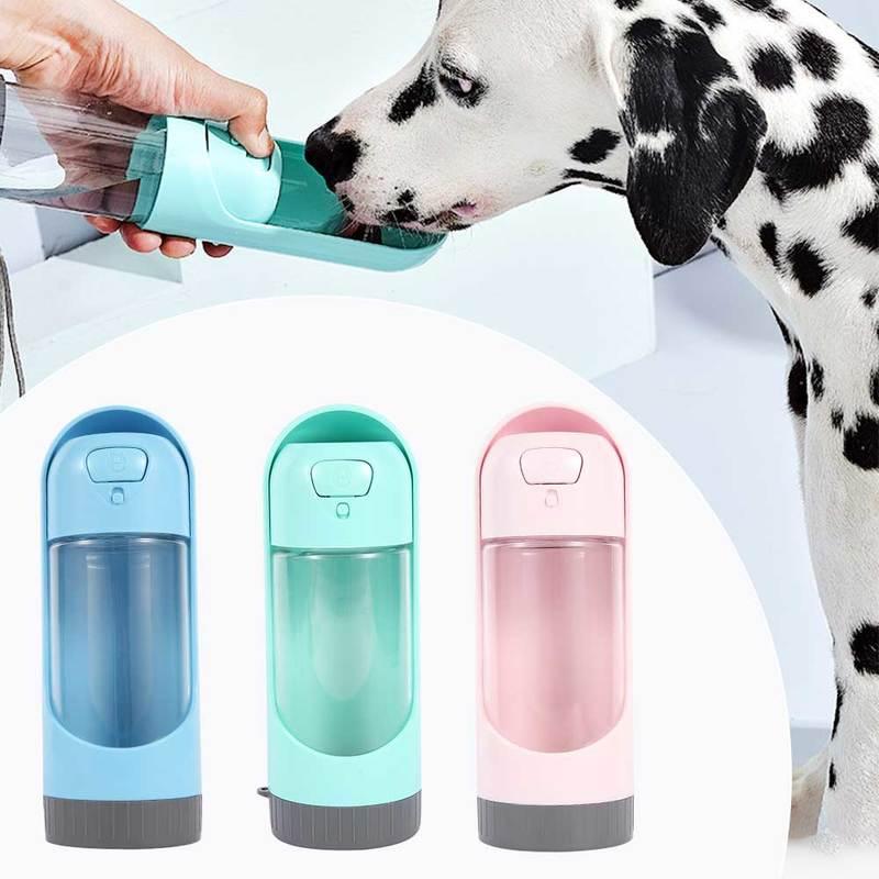 Портативна пляшка для води для домашніх собак 300 мл поїлка для маленьких і великих собак, дозатор для годування котів і собак, пляшки під відкритим небом