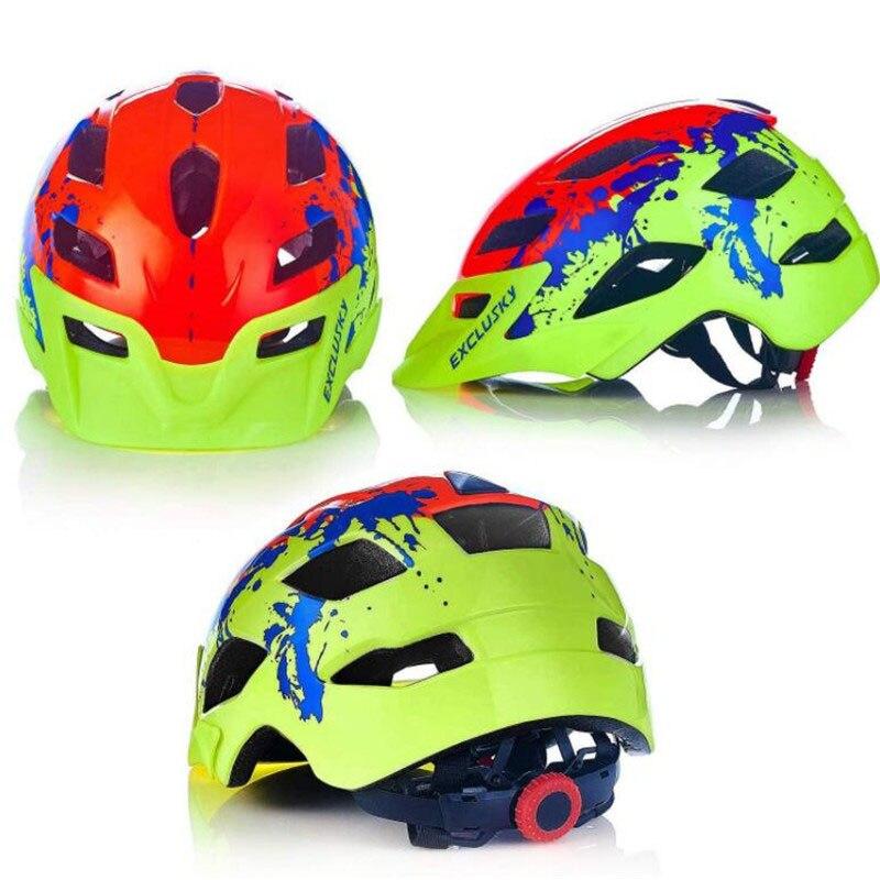 Exclusisky crianças ciclismo capacete vermelho bicicleta de estrada mtb capacete da bicicleta tamanho 50 57 57cm para 5 13 13 anos criança segurança esporte boné ce foxe lazer d