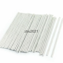 50 Pcs RC Helicopter Model Part Stainless Steel Round Rods Axles 75mm x 2mm