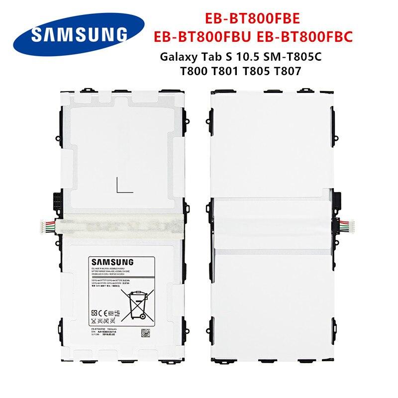 SAMSUNG Orginal Tablet  EB-BT800FBE EB-BT800FBU 7900mAh battery For Samsung Galaxy Tab S 10.5 SM-T805C T800 T801 T805 T807