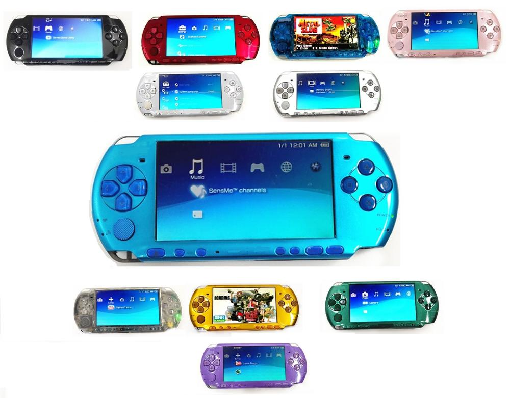 Consola de juegos Sony PSP-3000 PSP 3000, reacondicionada profesionalmente, consola de juegos portátil, Color opcional