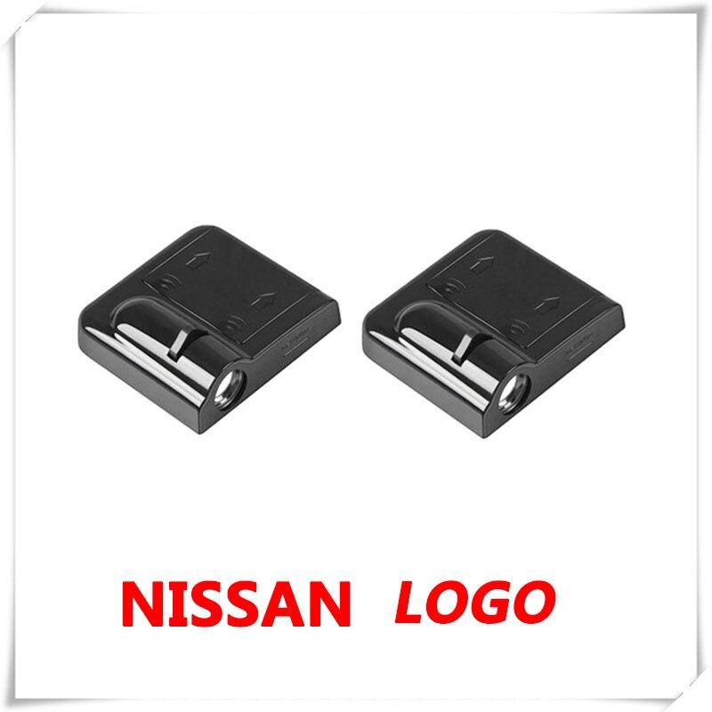 2X projecteur laser pour Nissan Almera N15 NP300   Logo de voiture, porte fantôme ombre, projecteur laser pour Nissan Almera N16 N17 Leaf Livina Micra K12 K13 K14 NP300 Pulsar