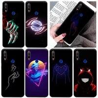 hand love tavid phone case for huawei honor 7x 8x 8c 9 v9 9x 10 v10 10i 10x lite dark wind hat skull back cover soft tpu