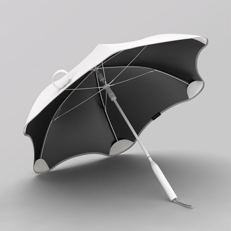 Creative Sun Protection Umbrella Long Handle Simple Colorful Umbrella Solid Color for Women Regenschirm Living Utensils EI50UA enlarge