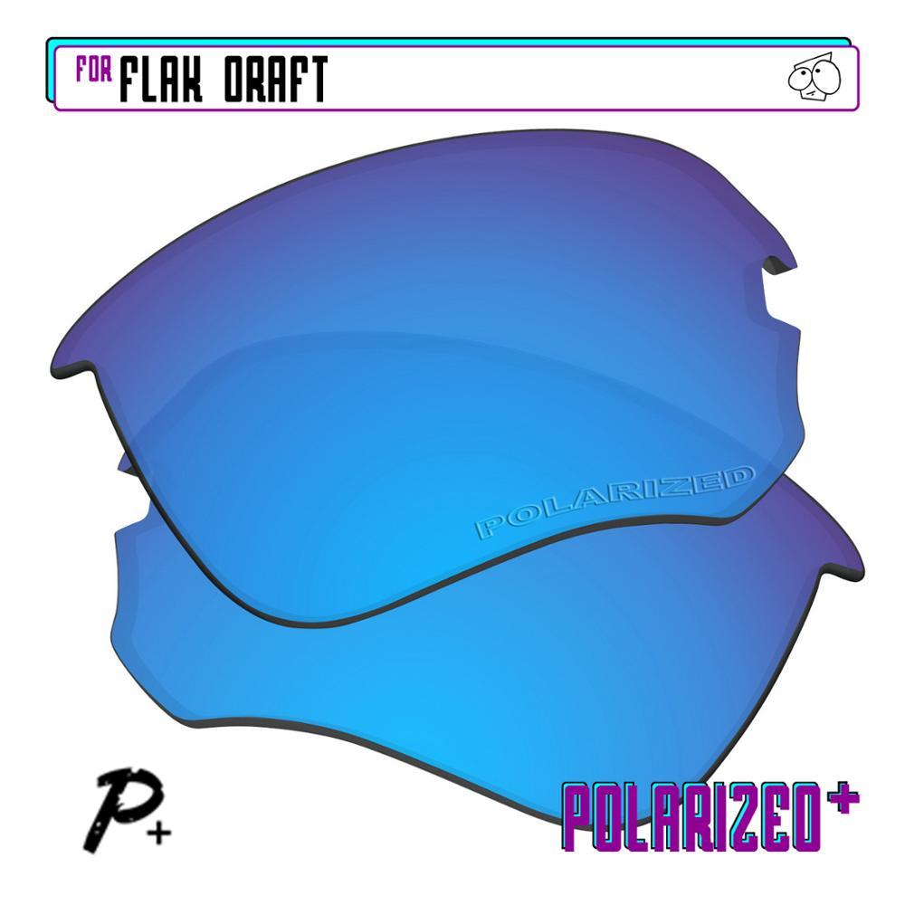 عدسات استبدال مستقطبة من إيزاستبدال-نظارات شمسية من أوكلي فلاك-أزرق P Plus