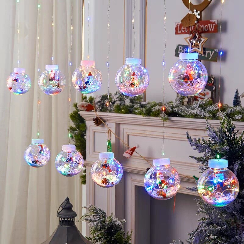 Navidad 2021 Christmas LED Garland Curtain Fairy Lights Decorations for Home Led Decoration New Year
