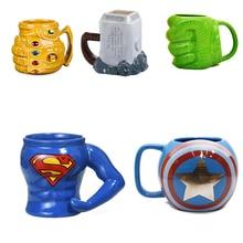 Marvel kubki do kawy Avengers filiżanki i kubki Batman Thor Super Man Iron Man Hulk Spider-Man kapitan ameryka ceramiczne kubki