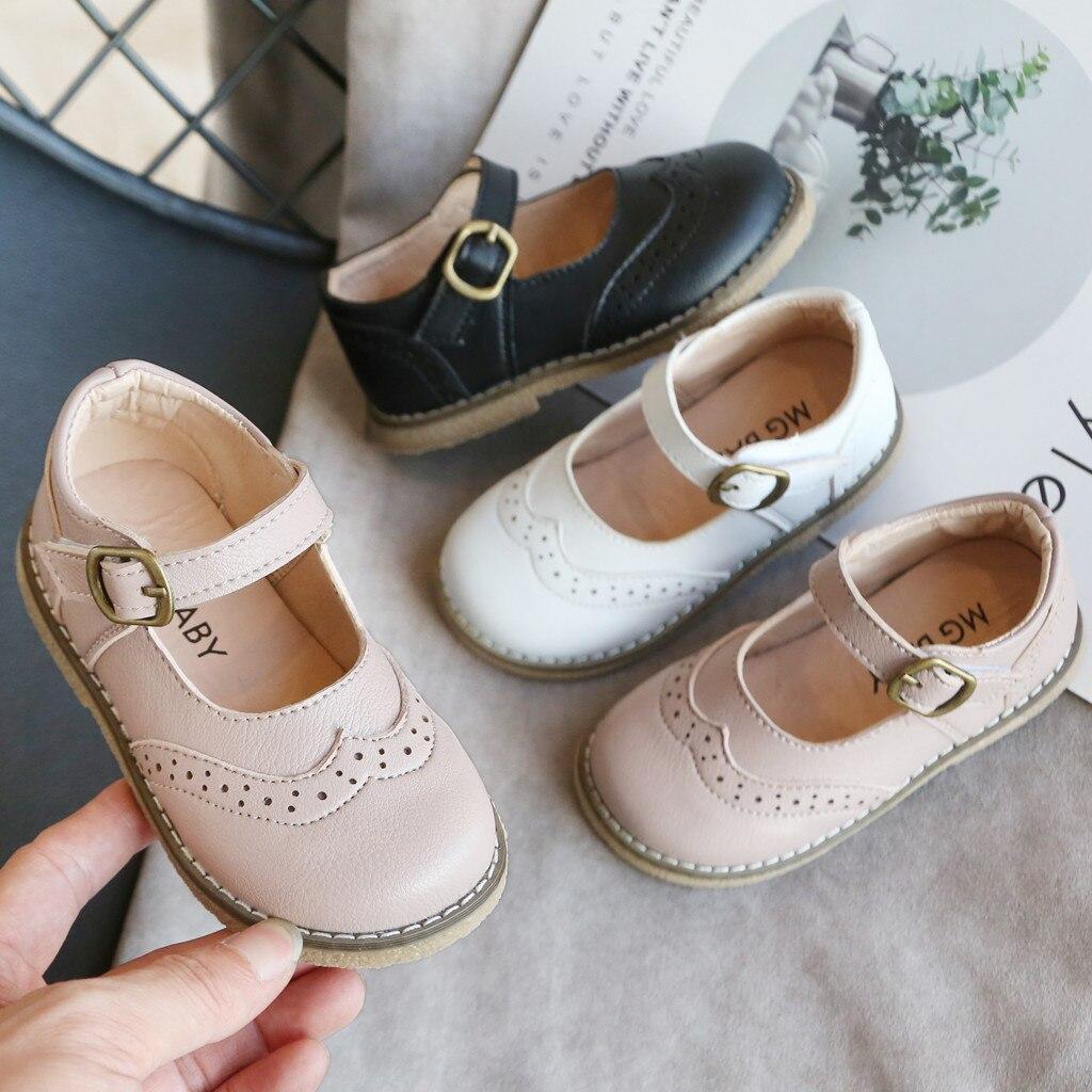 Детская кожаная обувь; Нескользящая однотонная дышащая детская обувь для вечерние девочек и мальчиков; Мягкая обувь в британском стиле для студенческой вечеринки; Резиновая детская обувь; Сандалии