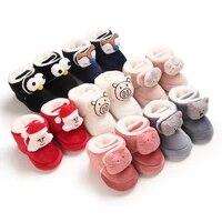 baby cute cartoon cartoon plush cotton casual comfortable winter baby boots 0 18 months baby warm newborn walking shoes